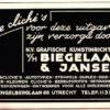 Een ooit onmisbaar bureau bij drukwerk: Clichéfabriek Biegelaar & Jansen te Utrecht