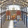 Het perroneiland van station Amersfoort