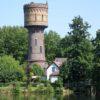 Het waterleidingbedrijf met de watertoren te Woerden